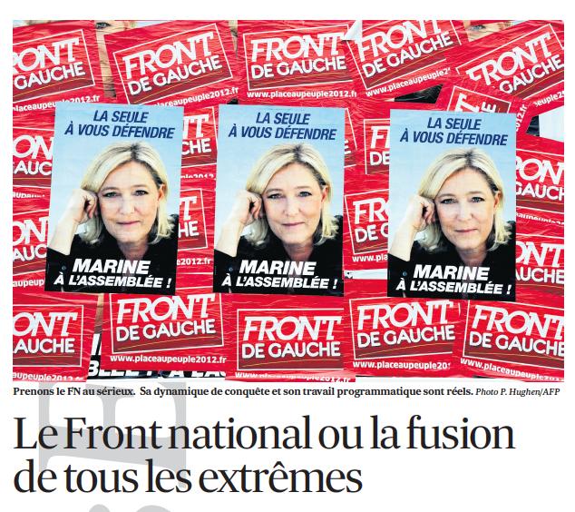 11-12-2013 Le Front national ou la fusion de tous les extrêmes