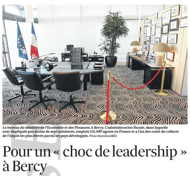 Pour un« choc de leadership » à Bercy