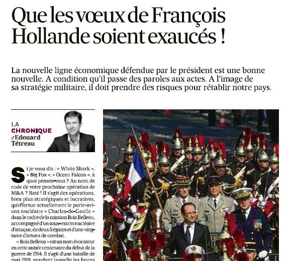 08-01-2014 Que les voeux de François Hollande soient exaucés !