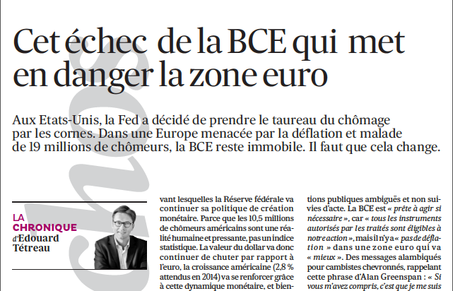Cet échec de la BCE qui met en danger la zone euro