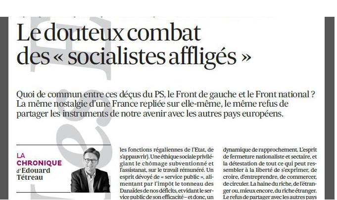 14-05-2014 Le douteux combat des « socialistes affligés »