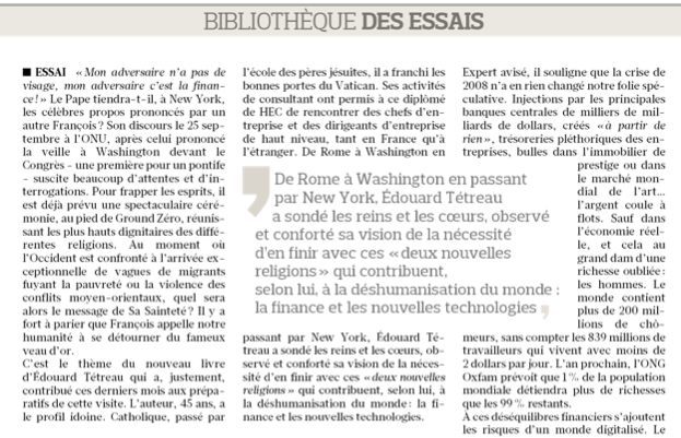 Le Figaro - Bibliothèque des essais 19:09:2015
