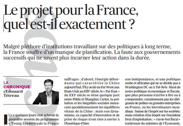 Le projet pour la France, quel est-ilexactement ?