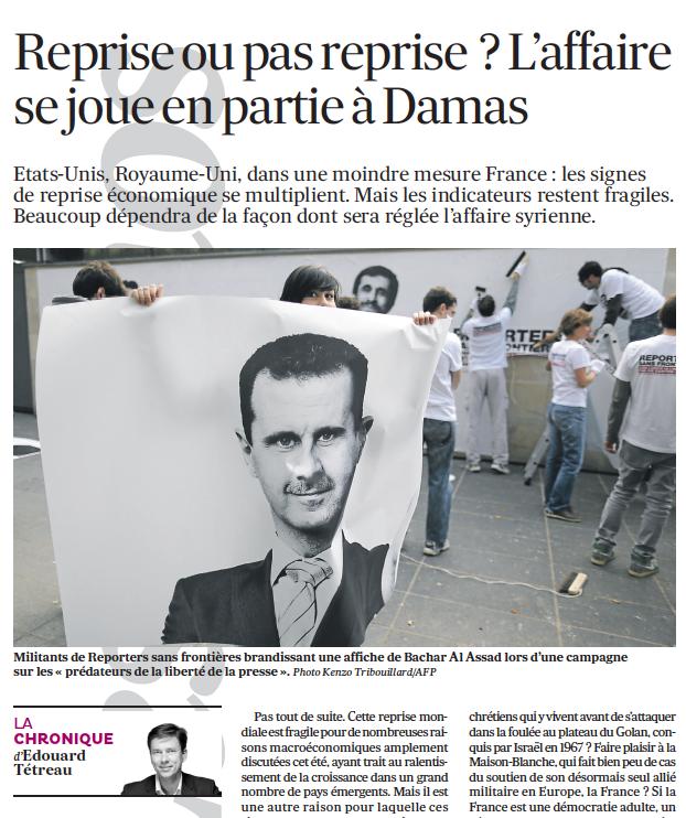 Reprise ou pas reprise ? L'affaire se joue en partie à Damas  04-09-2013