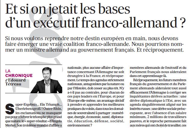 Et si on jetait les bases d'un exécutif franco-allemand ?