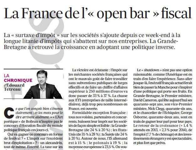 <!--:fr-->La France de l'open bar fiscal 09-10-2013<!--:-->