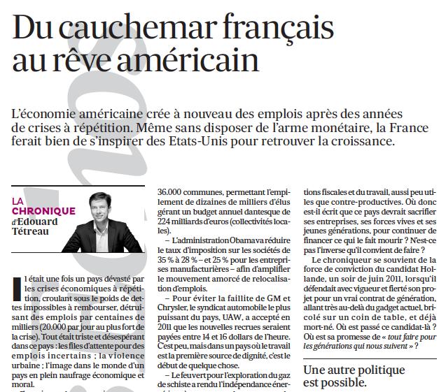 Du cauchemar français au rêve américain