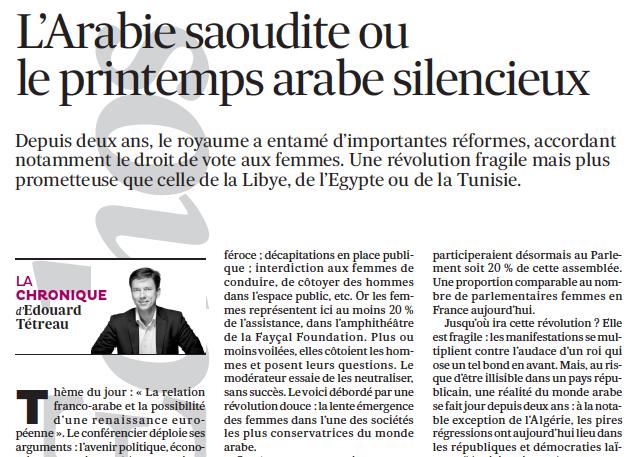 L' Arabie saoudite ou le printemps arabe silencieux