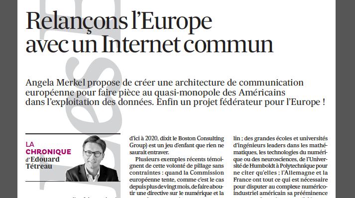 19-02-2014 Relançons l'Europe avec un Internet commun