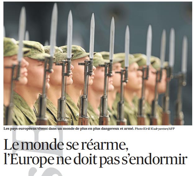 26-02-2014 Le monde se réarme, l' Europe ne doit pas s'endormir