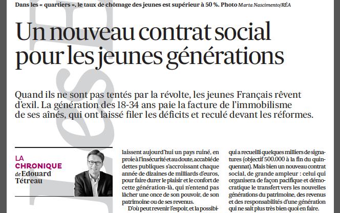 12-03-2014 Un nouveau contrat social pour les jeunes générations