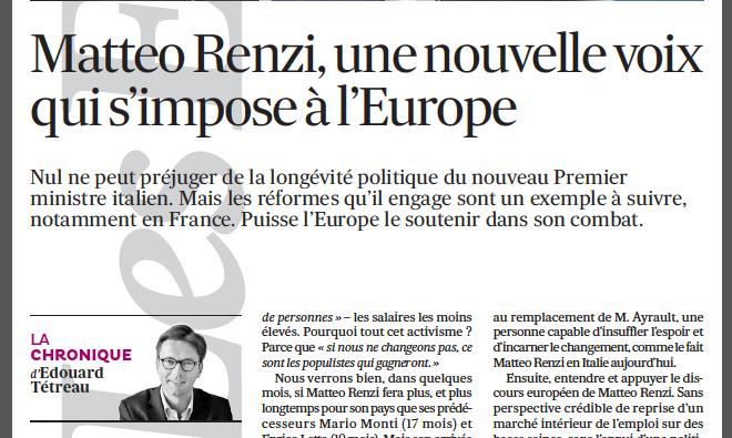 19-03-2014 Matteo Renzi, une nouvelle voix qui s'impose à l'Europe