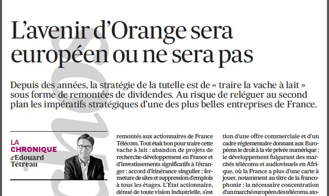 26-03-2014 L'avenir d'Orange sera européen ou ne sera pas