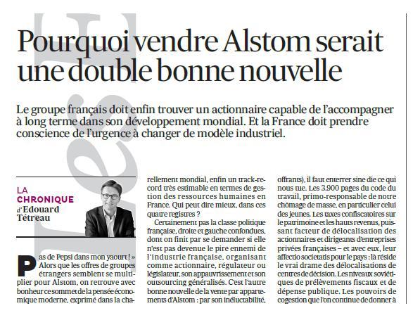 Pourquoi vendre Alstom serait une double bonne nouvelle