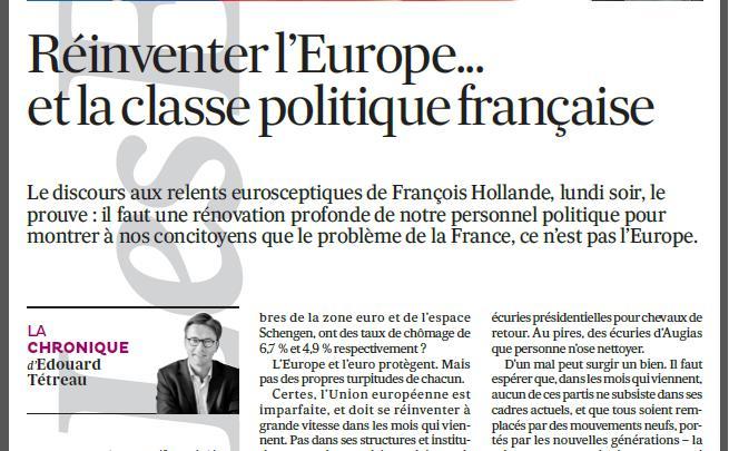 Réinventer l'Europe… et la classe politique française